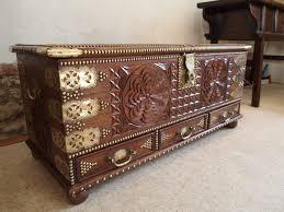coffer chest zanzibar chest camphor wood c1920