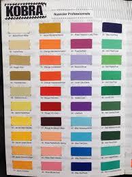 Kobra Color Chart Spray Paint Www Comasoundkartel Com
