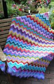 Easy Ripple Afghan Patterns New Decorating Design
