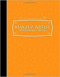 makeup artist appointment book 2 columns appointment notebook best appointment scheduler my appointment book orange cover volume 52 moito publishing