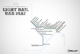 Twin Cities Light Rail Map Minneapolis St Paul Light Rail Bar Map Mpls Mn Light