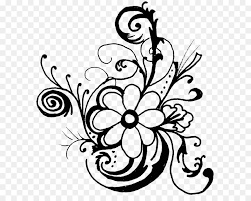 flower black and white fl design clip art flower clip art