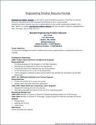 Resume Format For Mechanical Engineer Resume Format Mechanical