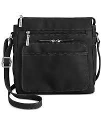giani bernini black handbag nappa front zip cross view fullscreen