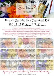 Free Chart How To Use Soulfire Artisan Essential Oil
