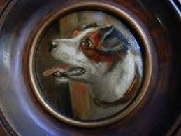 antique victorian small oil painting dog portrait jack rus terrier c 1900