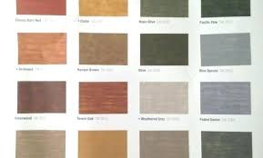 Sherwin Williams Stain Chart Sw Stain Colors Selfcure Co