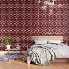 modern moroccan red wallpaper