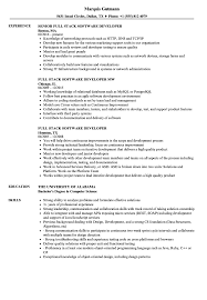 Full Stack Software Developer Resume Samples Velvet Jobs