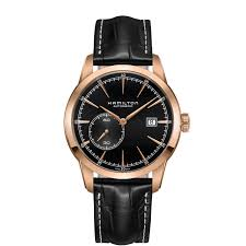 hamilton men 039 s automatic rose gold black leather watch h40545731 hamilton men s automatic rose gold black leather watch h40545731
