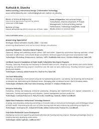Instructional Designer Resume Sample Sarahepps Com