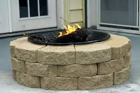 furniture round brick and stone diy outdoor fire pit design with grill ideas 10