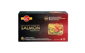 golden prize wild caught alaksan pink salmon fillets in oil box 115 grams