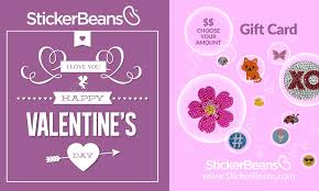 stickerbeans valentine s day gift card choose your amount