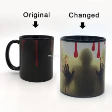 office coffee mugs. Creative Home 350ml Ceramic Mugs Temperature Color Changing Mug Office Coffee Discoloration Cup Tea Water Cups Ghost Customised Customized