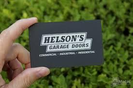 Black-Metal-Business-Card-With-Texture-Finish-For-Garage-Door ...