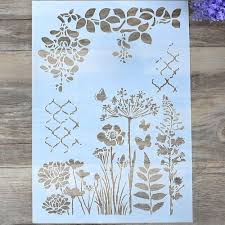 Wall Painting Paper Design Diy Craft Layering Stencils For Walls Painting Scrapbooking