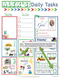 Free Download Of Lds Daily Task Chart For Kids Has One For