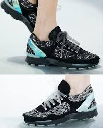 chanel runners. chanel couture sneakers sequins runners