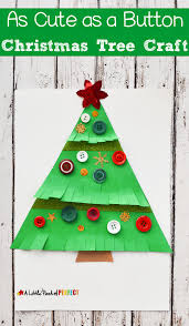 As Cute As A Button Christmas Tree Craft For Kids Christmas Tree Kids
