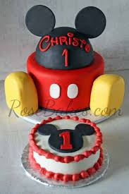 Mickey Mouse Cake And Smash Cake Things For My Wall Torta