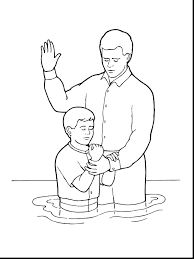 John The Baptist Coloring Pages Baptism Page S On Saint Baptizing