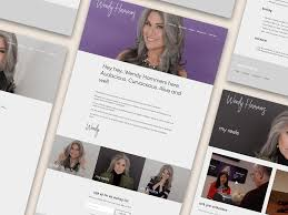 Wendy Hammers Website by Ash Blankenship on Dribbble