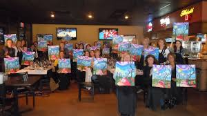 with locations in bloomington and indianapolis wine and canvas also schedules classes in other indiana cities like the one i partited in in columbus