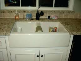 how to install farmhouse sink a kitchen photo 5 of 9 white installation lovely