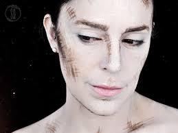 drawn face effect fantasy makeup tutorial drawn face effect fantasy makeup tutorial