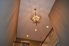 image of 2 story foyer chandelier