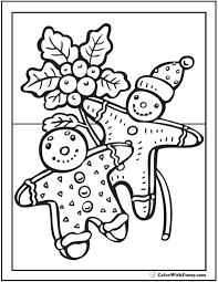 Christmas Gingerbread Man Coloring Pages Coloring Page 2018