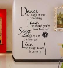 Small Picture Dance As Though No One Is Watching 4060cm Wall Decal Quote
