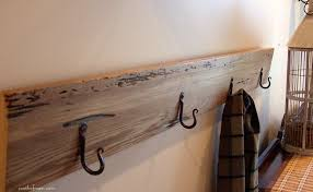 Long Coat Hook Rack interiorrusticcoathookdesignonfurniturestunningdiywall 25