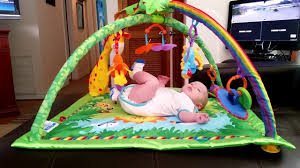 Baby Play Mat Light Up Fisher Price Rainforest Music Lights Deluxe Gym Pogot