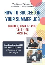 join career services as we get you ready for your summer join career services as we get you ready for your summer internship job mon 4 17 at 12 15pm