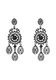 red s revenge black caviar pearls vintage chandelier dangle earrings c3aaaac86ac54bgs 1