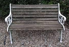 garden bench seat cast iron ends wooden slats chair wood
