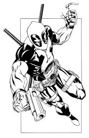 Free Printable Deadpool Coloring Pages For Kids Silhouette
