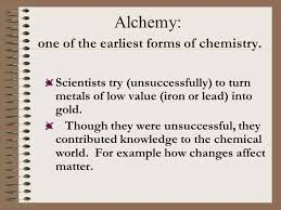 Atoms & The Periodic Table of Elements History first… Alchemy ...
