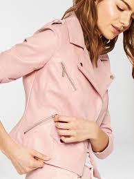 oasis women lucy faux leather biker jacket pink mnp63 oepympc