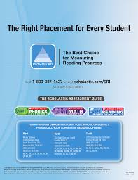Scholastic Reading Counts Lexile Chart The Right Placement For Every Student