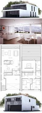 pretty narrow modern house plans nice houses