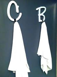 letter towel hooks alphabet for bathroom decoration life with make your own letter towel hook