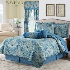Moonlit Shadows Reversible Blue Quilt Set by Waverly &  Adamdwight.com