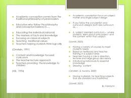 Importance Of Philosophy In Curriculum Design Conceptions Of Curriculum Ppt Download