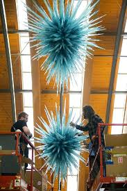 chihuly glass chandelier style