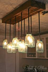 diy ceiling lighting. build it diy mason jar chandelier from nest of bliss diy ceiling lighting