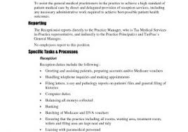 medical receptionist duties for resume sample resume objectives for medical receptionist sample resume