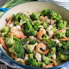 What really matters is how you prepare the shrimp—stay away from high carb batters and unhealthy oils for frying. Chicken And Shrimp Stir Fry With Broccoli Low Carb Yum